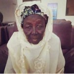 90 years old woman her name is Hajia Mai Talle. She waited 9 hours for Buhari to come 2 Kebbi and donated 1 M. Naira http://t.co/oLf8GT1aOR