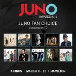 And now here are the nominees for the JUNO Fan Choice Award (Presented by @TD_Canada)! #JUNOS http://t.co/8eQcJ4RPKY