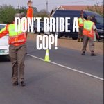 Dont bribe a cop! And report those who solicit bribes. #100solutions JPSAorg @CrimeLineZA @SAPoliceService RT http://t.co/aZ33Id3za5
