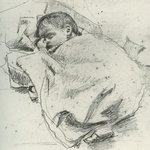 #WBYeats died in France on this day 76 years ago. His dad, John Yeats, sketched him when he was born, 150 years ago http://t.co/IRmsbzTcvY