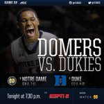 #8 DOMERS vs. #4 Dukies 7:30pm - ESPN2 How will you be watching? #Together http://t.co/NS9lgyokSf