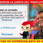 Esto es lo que posteó @CrudoEcuador en Facebook luego de que suspendieran su cuenta de twitter. http://t.co/eYD1hhVyWd