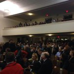 Still a packed house nearly two hours after the meeting got started in Hanes Auditorium. @WFMY http://t.co/HUWsxNRwwB