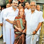 #Thala #Ajith with his parents at #Tirumala temple yesterday