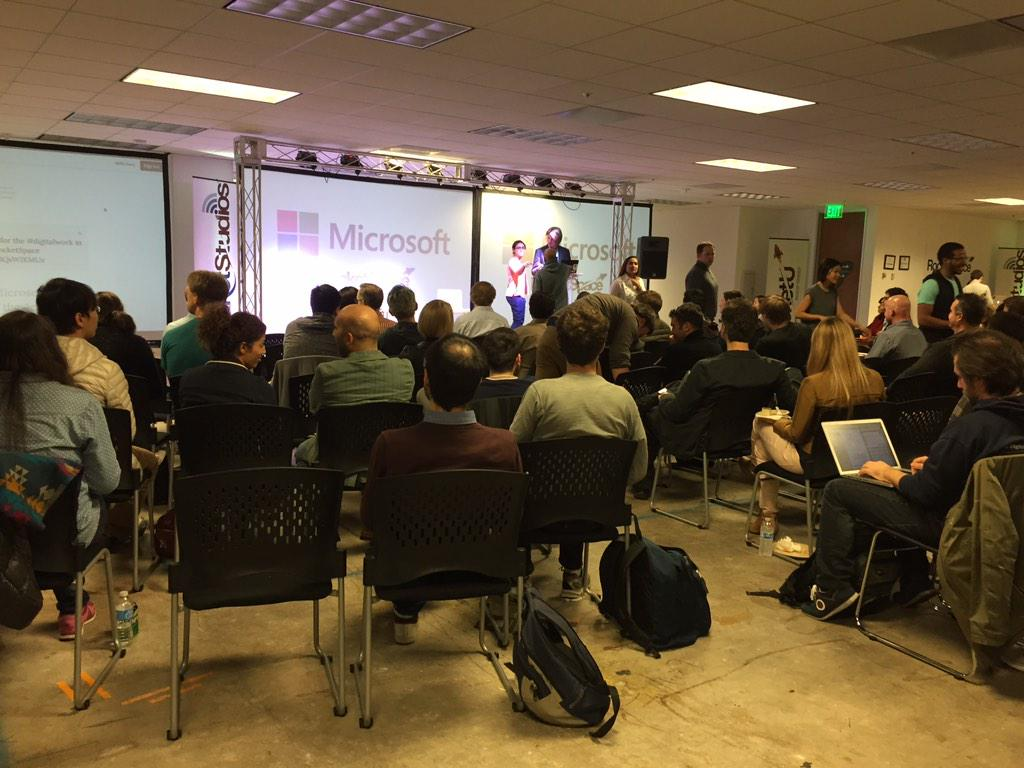 Full house @RocketSpace for the @MSFTVentures Open House