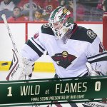 #mnwild stomps out the #flames 1-0 as Duby gets the Dub-ya in Calgary. Dubnyk gets his 2nd shutout w/ Minnesota. http://t.co/xLCZz252T5