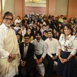 .@SrBachchan with students no. 3 #BigBCouching http://t.co/GqvZB7KvJn