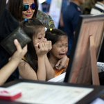 Children cry at the coffin of one of the #SAF44. Photo by Noel Celis/AFP #RStream http://t.co/HstTwv4Z4n