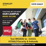 WKU is so close to the TOP! Lets get there! Each RT is a vote. #STANLEYSecurity #WKUEDU http://t.co/n2SRvTUBvk http://t.co/DvcvKxRehE