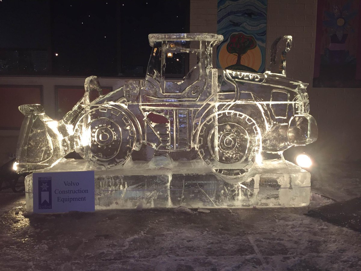 This Volvo inspired ice sculpture will be entertaining the town of Chambersburg at #ICEFESTPA this weekend! http://t.co/iPtPysPsnt