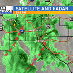 Looks pretty soggy out tonight. 90% chance for more rain tonight in #ElPaso and #LasCruces. -sd http://t.co/v8Jrludvp7