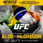 Get booking! Conor McGregors title fight with Jose Aldo confirmed for Las Vegas on 11 July http://t.co/dlOVfUnD0H http://t.co/daYyAaawm5