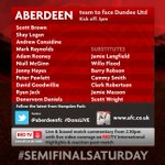 Todays team to face Dundee United ... #DonsLIVE http://t.co/BDeZMK4b9D