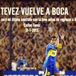 La noticia del Dia #TevezVuelveABoca http://t.co/CnUN4b1Vuu