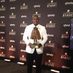 Much deserved! RT @josephperson: Thomas Davis with the coolest trophy NFL gives out. http://t.co/hfMeYhX9hs