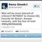 """Lol for days""""@omojuwa: So Reno has been blocking all that favourited this tweet in case he does another poll. LOOOL http://t.co/YoRLwLgLdi"""""""