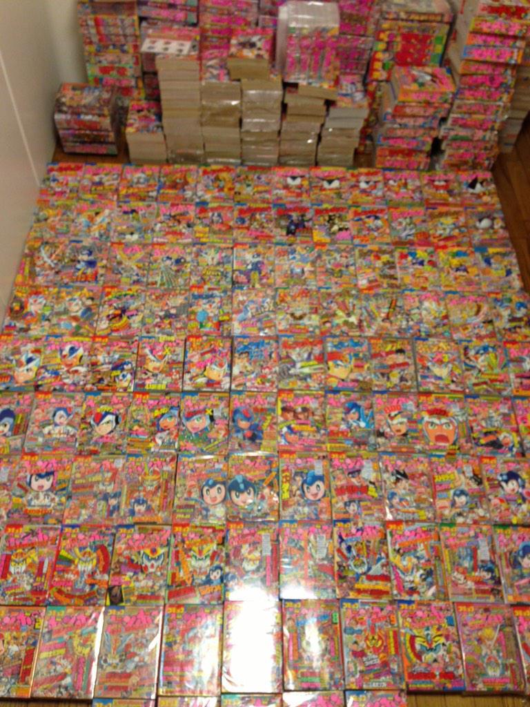 コミックボンボンを床一面に並べた事あります(^^)。 http://t.co/2tvFqduCe8