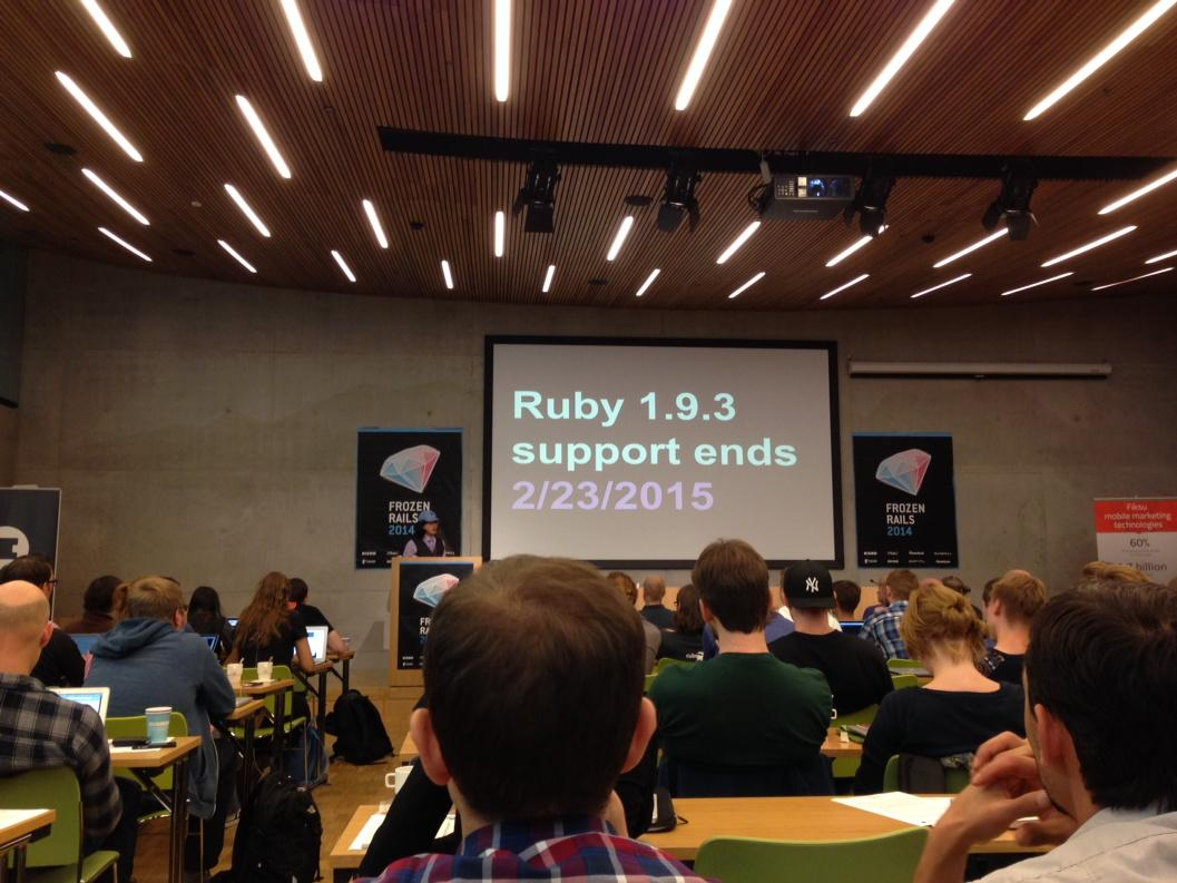 Reminder: Ruby 1.9.3 Support ends February 23, 2015 #ruby http://t.co/vTChy8prNA