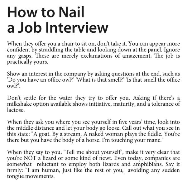 How To Nail A Job Interview http://t.co/pjKJKdCvRm