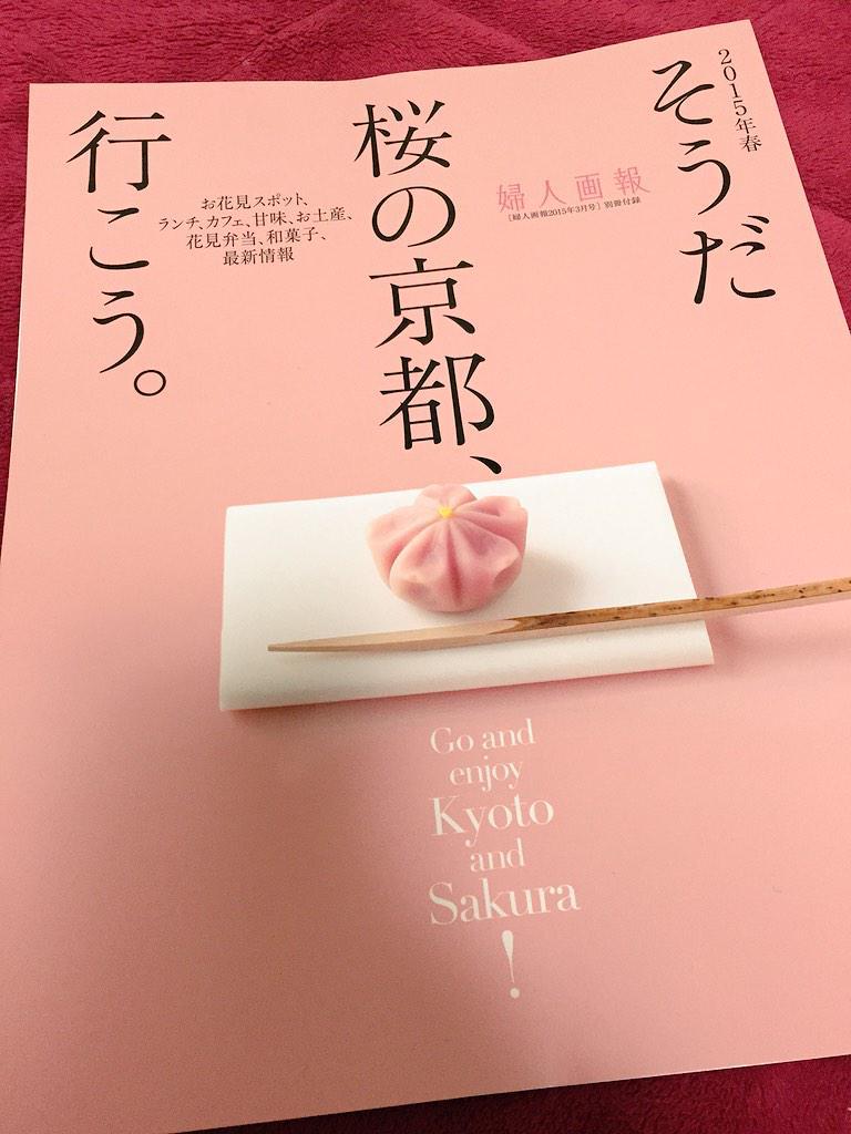 新宿で配ってた桜の京都特集表紙も中身も凄く綺麗で写真集みたいで無料とかびっくり感激。 http://t.co/jcVwmhuQL7