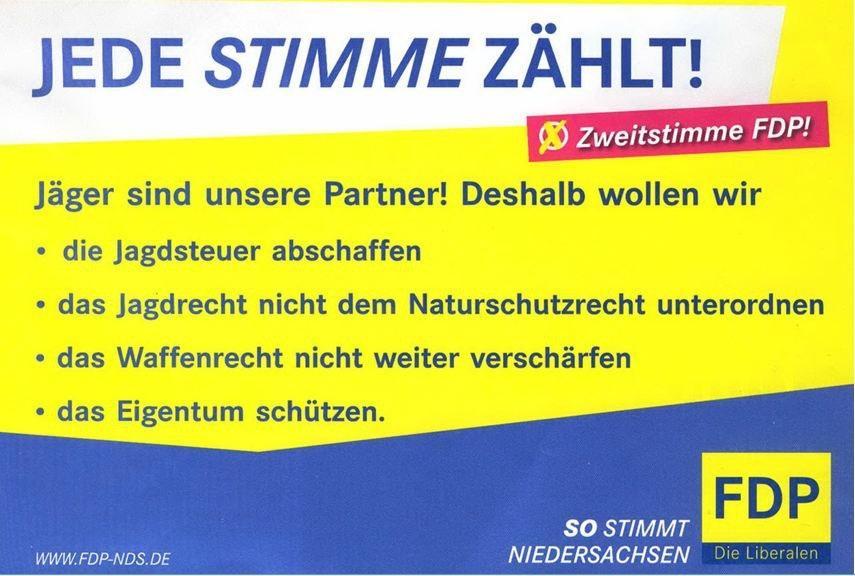 FDP fordert Steuererleichterungen und weniger Umweltschutz für Klientel.