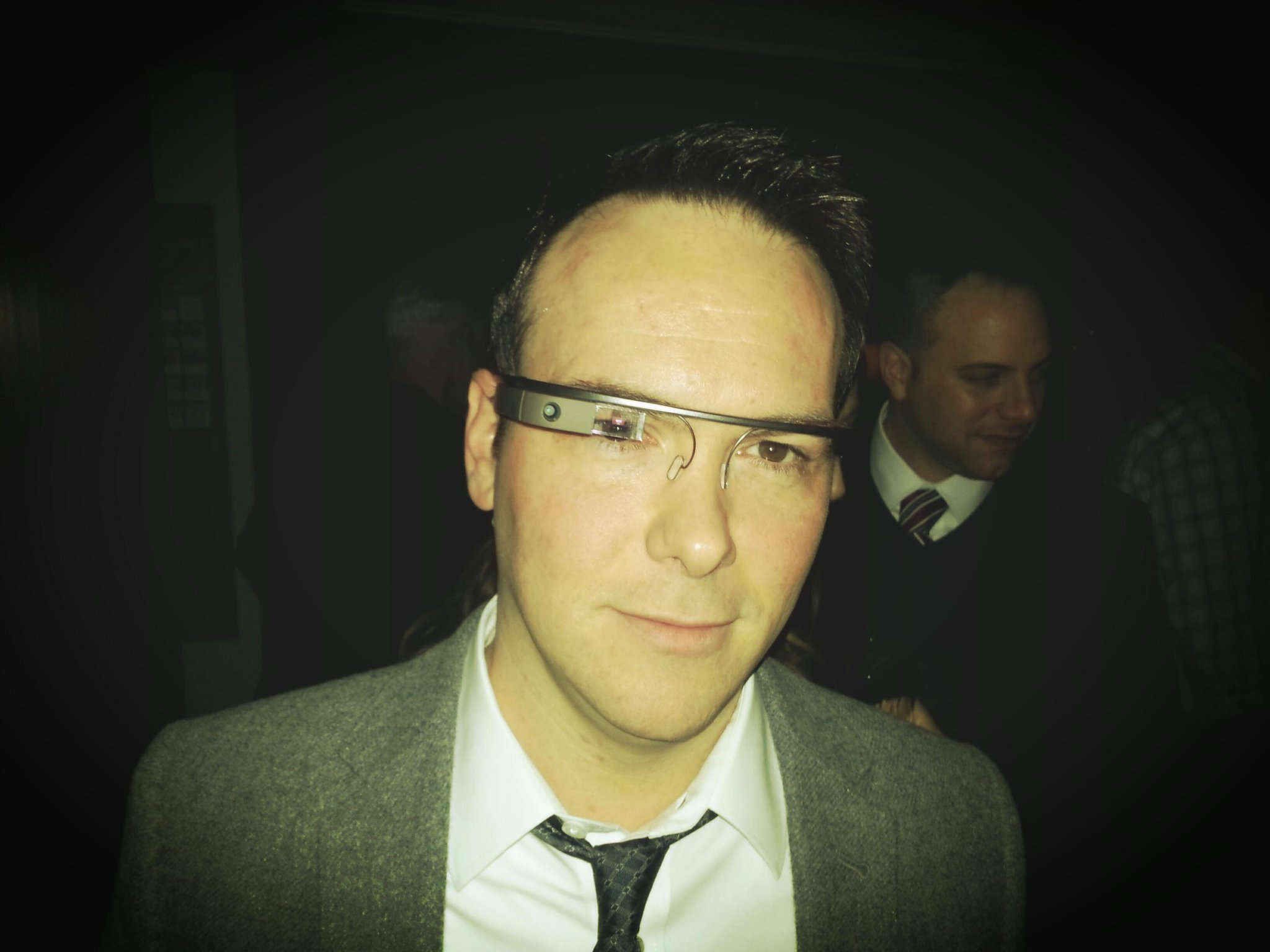 """@DanaBrunetti: Wearing Google Glass at the CAA pre-Golden Globes party. Pretty awesome. http://t.co/yg3j35YI""