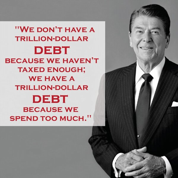 President Reagan's words transcend time.  Please RT if you believe we have a spending problem http://t.co/7veKRFkH