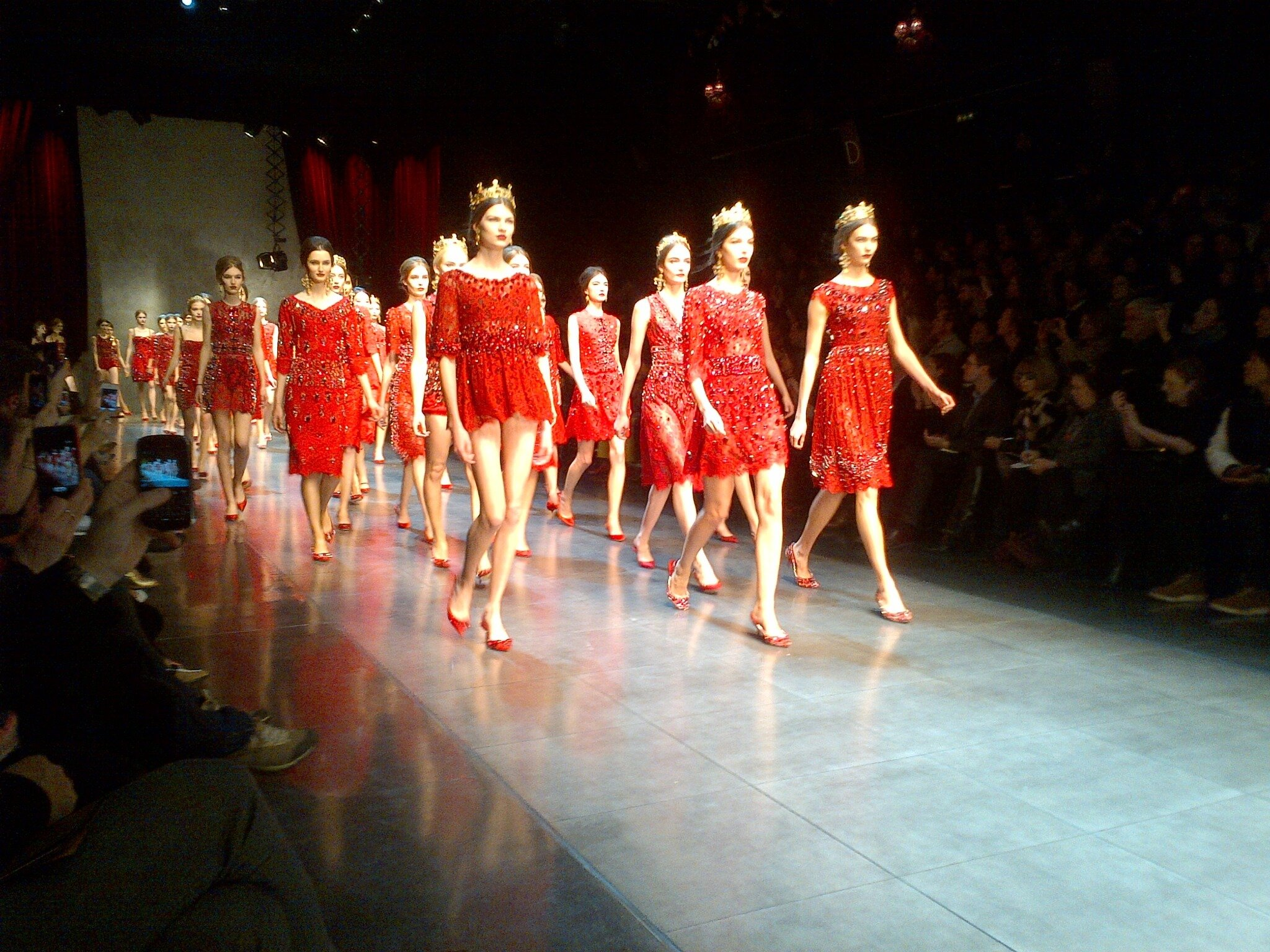 """Ciao! xx """"@NETAPORTER: It's ciao from the girls at @dolcegabbana and ciao Milano from us. Next stop, Paris. #MFW http://t.co/5AuoqsMm4G"""""""