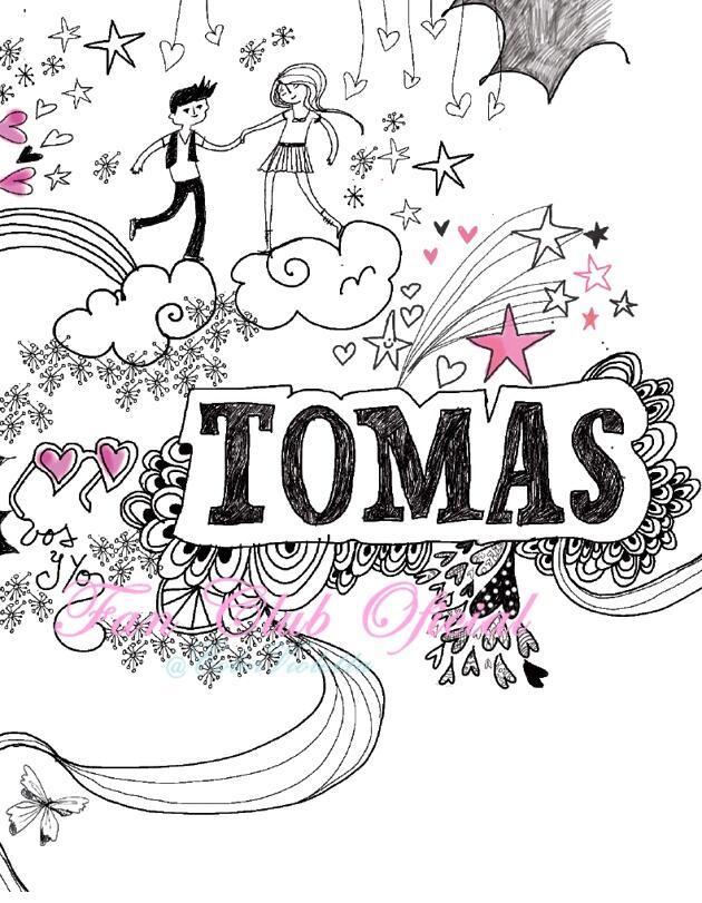 IMAGEN: Una parte del diario de Violetta donde se encuentran dibujos de Tomás. http://t.co/Ljx1JuLiId