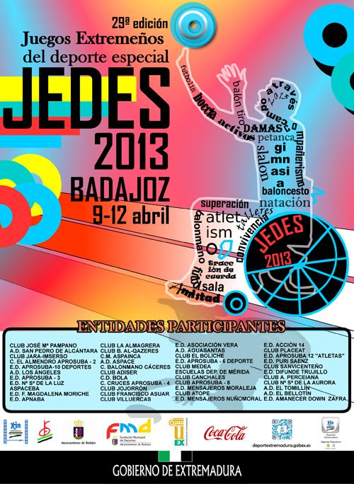 Los JEDES 2013 Juegos Extremeños del Deporte Especial, se celebrarán del 9 al 12 de abril en CDM La Granadilla http://t.co/Nm4ZyIMU5V