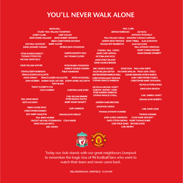 BH59ftFCQAAJnv  Respect! Manchester United pay tribute to the 96 Hillsborough victims