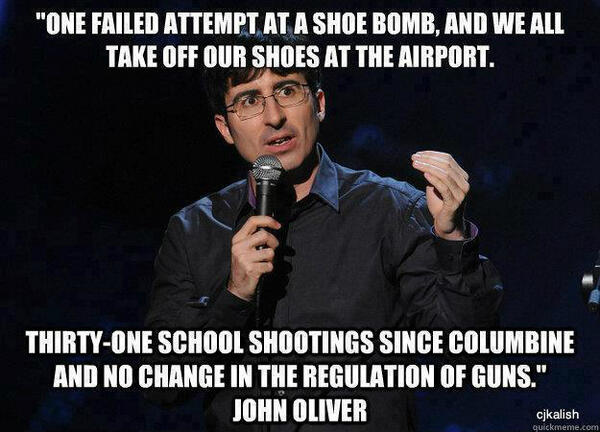 John Oliver on gun safety http://t.co/Ay5hpaRnDO