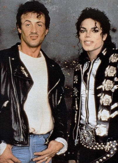 Michael Jackson and Sylvester Stallone http://t.co/zrLjfEXl3s
