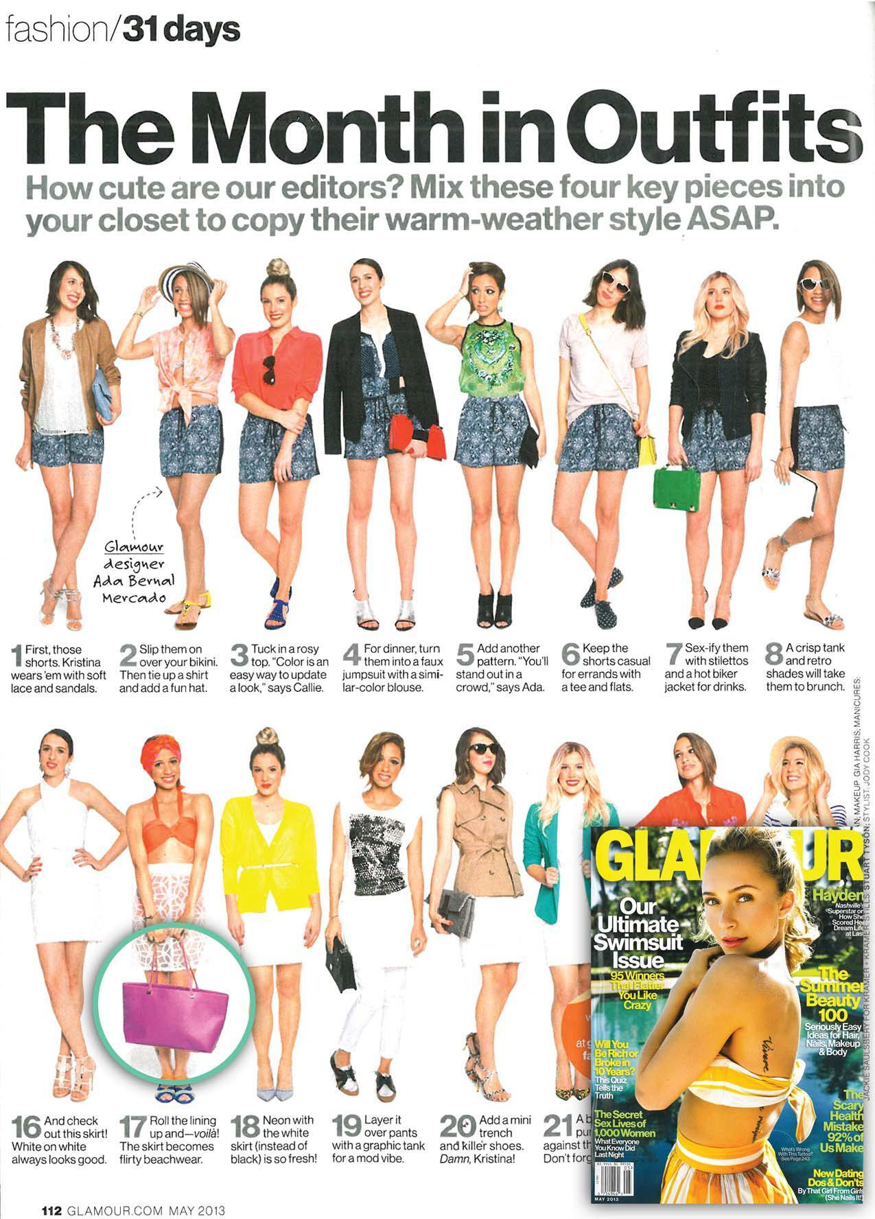 RT @IvankaTrump: My Julia Double Shoulder bag in Fuschia in @glamourmag's The Month in Outfits feature http://t.co/CAc74WKic1