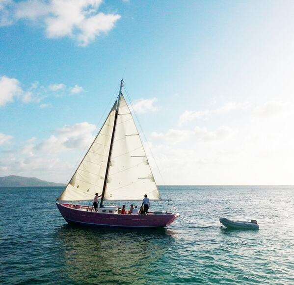 The Pink Lady heading out for a #sunset #cruise! Who wishes they we out on that #boat? #svg #grenadines http://t.co/TOUX8qGiYP