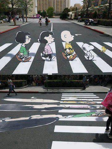 Optical illusion to slow down drivers http://t.co/o4U8TDbrOS