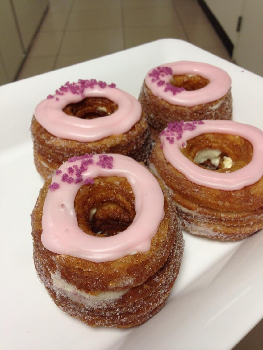 This Cronut is easily the most delicious pastry I've ever tasted. A cross between a croissant and donut. http://t.co/JteYqYLGPZ