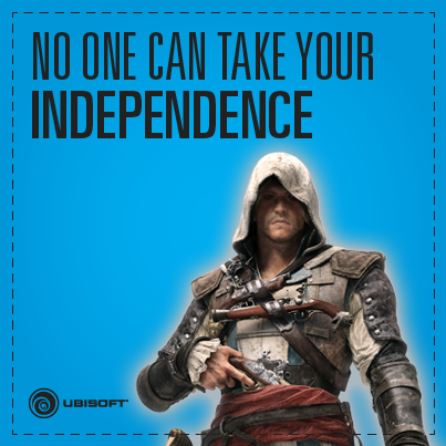 Happy Fourth of July from Ubisoft and @AssassinsCreed's Edward Kenway – the original freedom fighter! http://t.co/LovJgcULY7