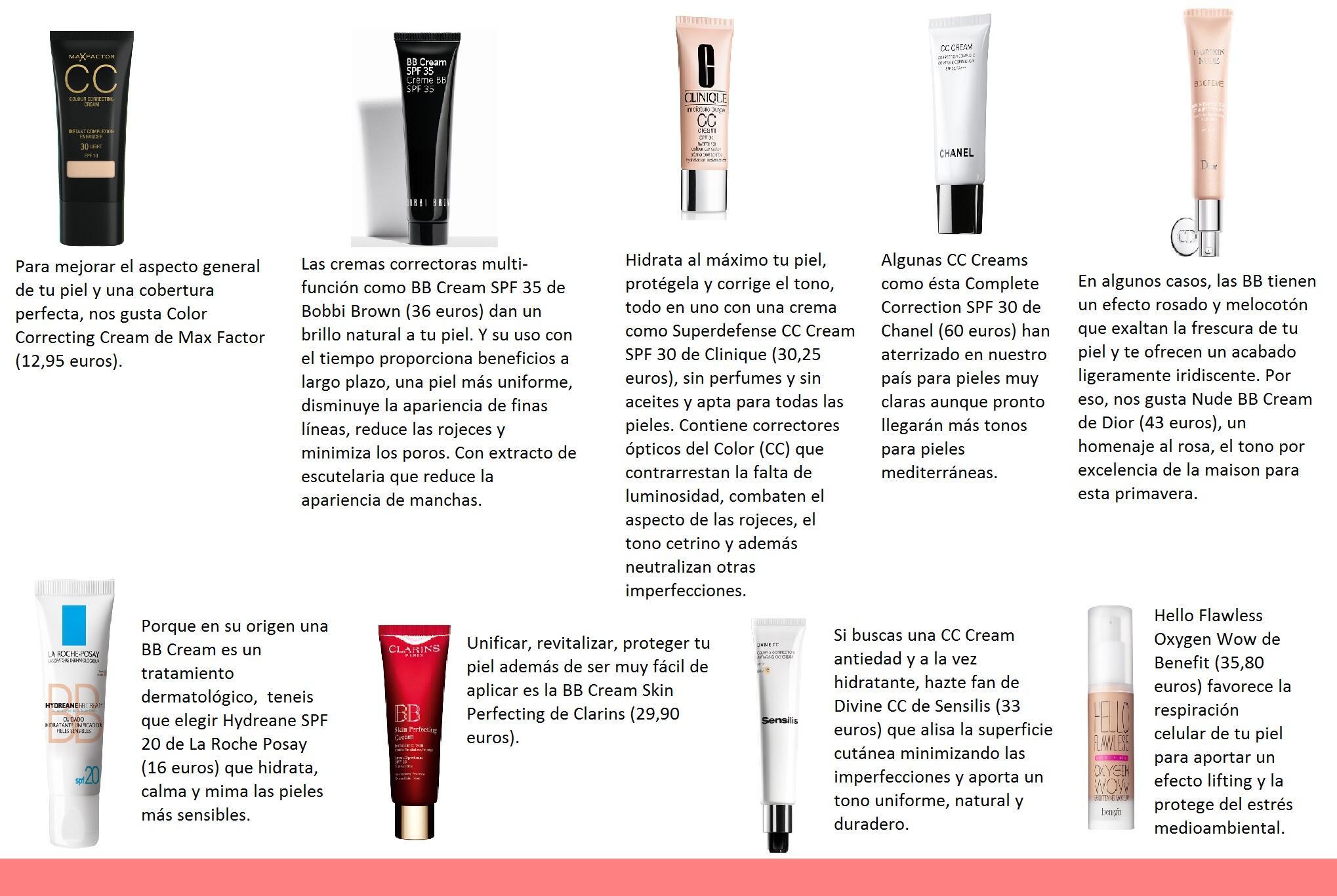 BB Cream o CC Cream? Cual es la tuya? http://t.co/TVBhrFqA6G