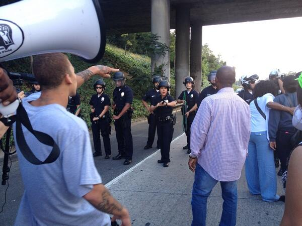RT @mattdpearce: Follow @jasmyne for first-person account of south LA Trayvon protests. One of her freeway photos from earlier: http://t.co/92P57Xp8Ft