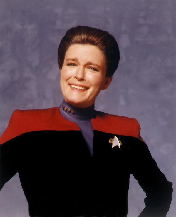 RT @TrekCore: Kate Mulgrew reacts to a joke from the photographer while shooting season 1 publicity stills! @totallykate http://t.co/TlaaUDHZZN