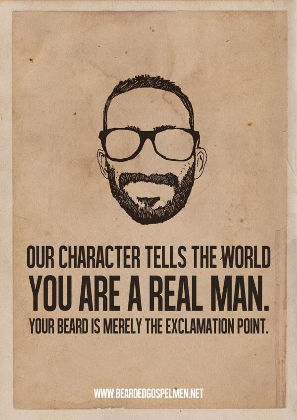 It is merely an exclamation point.   LIKE/SHARE if you have bearded friends! http://t.co/ae2QXbUTwH