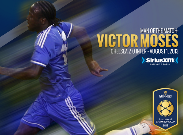 The fan-voted Man of the Match for @Inter vs. @Chelseafc is...Victor Moses! #ICC2013 http://t.co/maL0539BG7