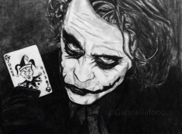 The Joker by Gabriella, @gabriellafooo http://t.co/5jCMMM0LFO