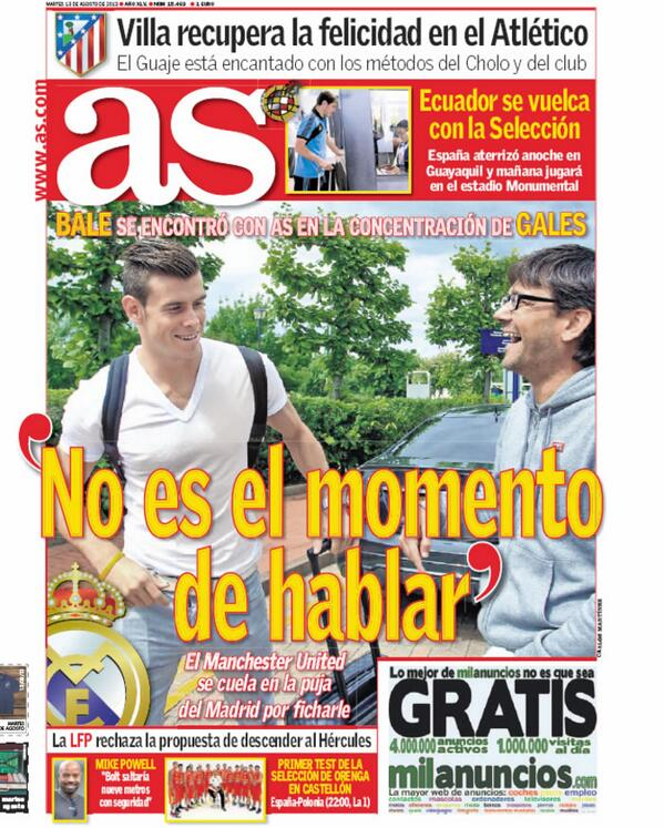 BRhjE ZCcAA334M Marca & AS stalk Gareth Bale at Wales training, Spurs forward refuses to speak