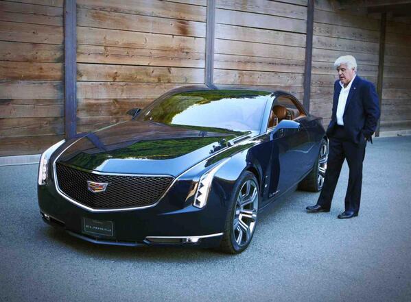RT @LenosGarage: Jay checks out Cadillac's newest concept vehicle, the El Miraj in Monterey, CA @Cadillac #Cadillac #elmiraj http://t.co/Myyaxv81s5