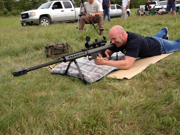 Me and my boys are at my place in Maine shooting my 50 cal and celebrating the launch of @foxsports1 http://t.co/EGFomr2EG6