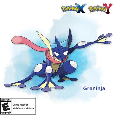 Froakie's final evolved form has been revealed! Meet Greninja! #PokemonXY http://t.co/8mRCFU9NBZ