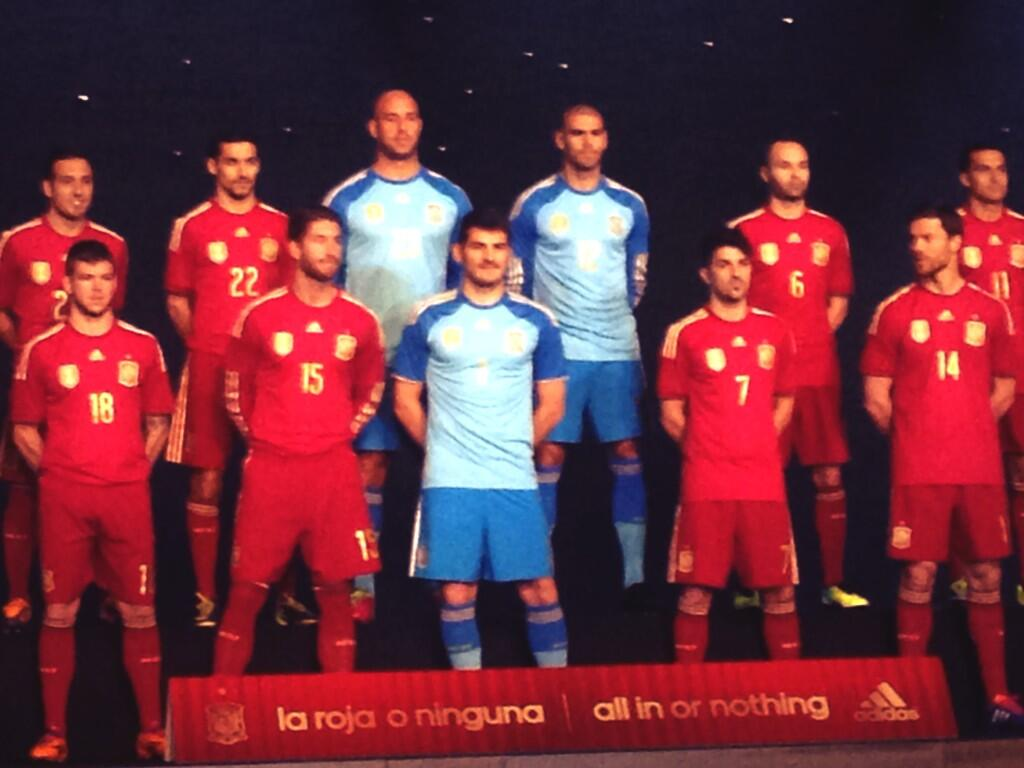 Spain unveiled their brand new Adidas 2014 World Cup kits [Pictures]