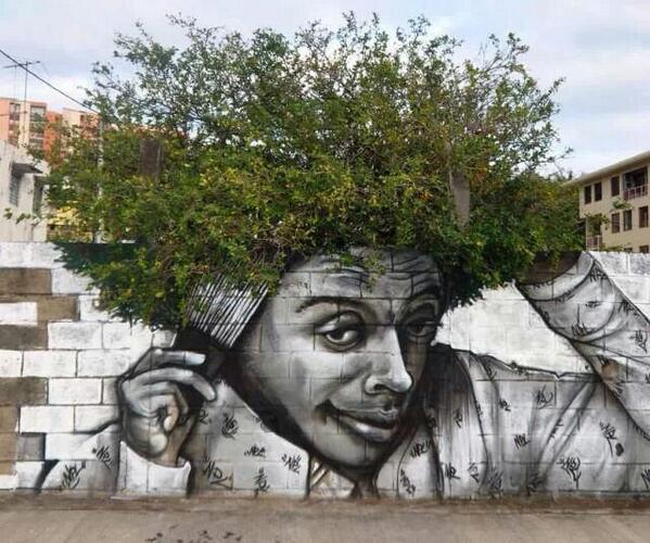 "COOL! ""@bbonthebrink: Brilliant! RT @OumeimaElKhalil: When street art meet nature http://t.co/gRfazdBOAB (via @morrisonbrink )"""